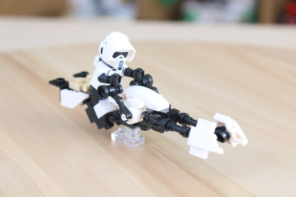 LEGO Star Wars The Mandalorian Speeder Bike Z 74 Custom Build 5