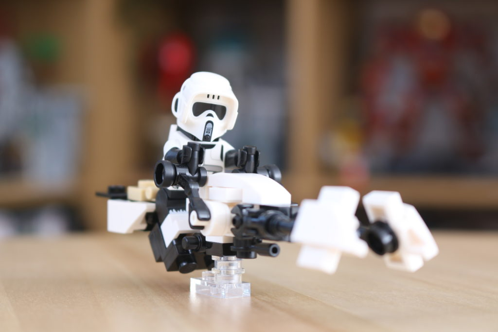 LEGO Star Wars The Mandalorian Speeder Bike Z 74 Custom Build 6