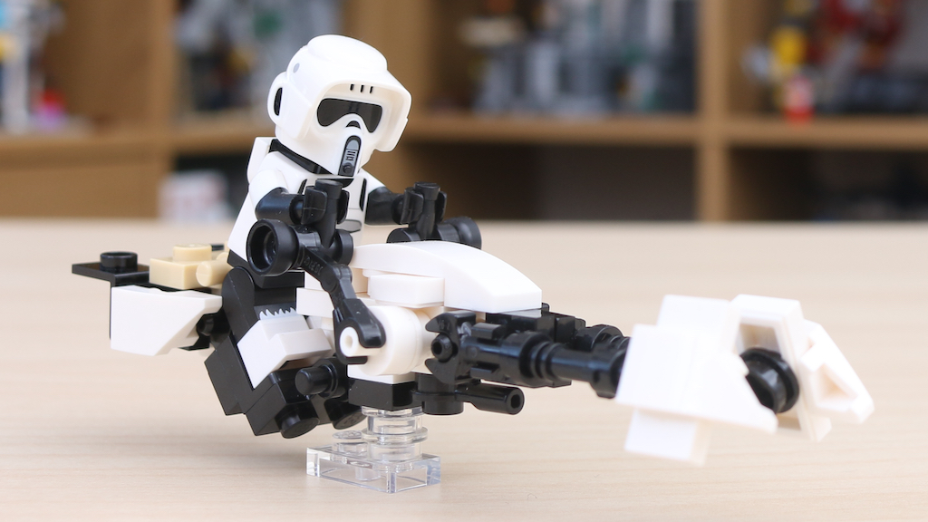LEGO Star Wars The Mandalorian Speeder Bike Z 74 Custom Build 7