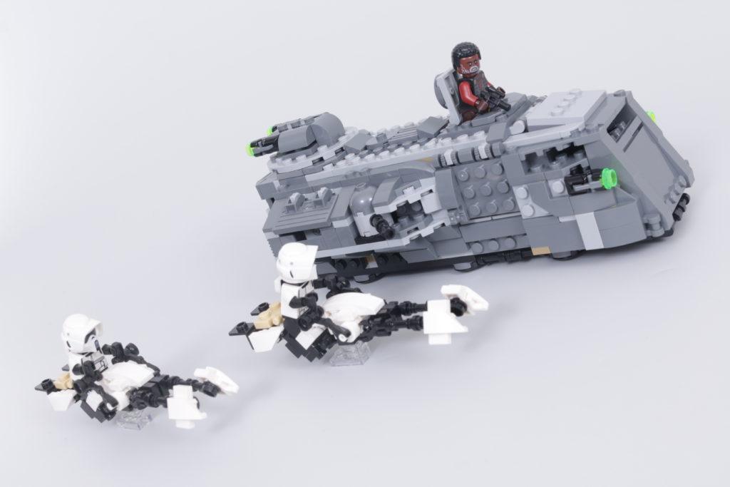 LEGO Star Wars The Mandalorian Speeder Bike Z 74 custom build competition 5