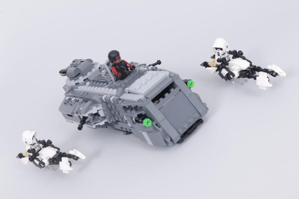 LEGO Star Wars The Mandalorian Speeder Bike Z 74 custom build competition 6