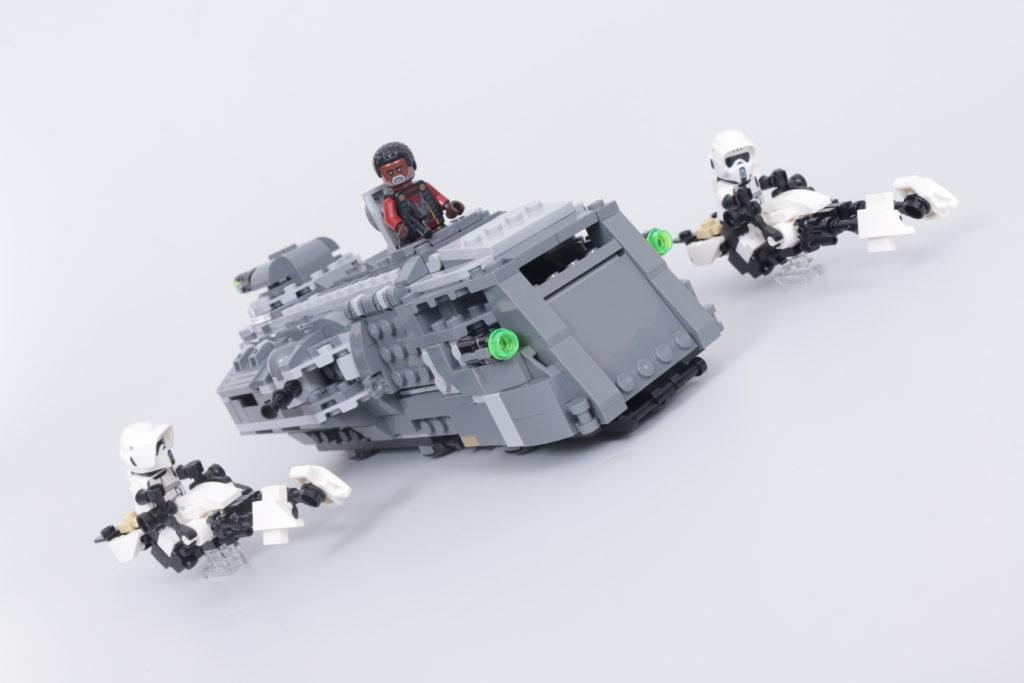 LEGO Star Wars The Mandalorian Speeder Bike Z 74 custom build competition 7
