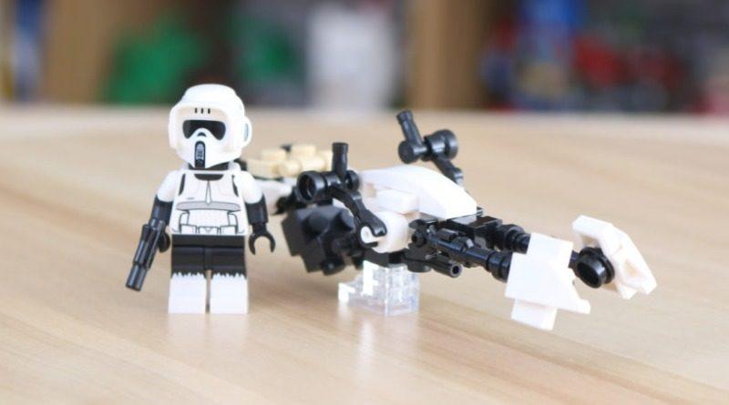 LEGO Star Wars The Mandalorian Speeder Bike Z 74 Custom Build Featured 800x445