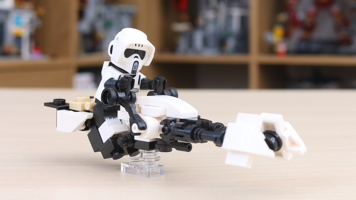 LEGO Star Wars The Mandalorian Speeder Bike Z 74 Custom Build Title 1200x675 1