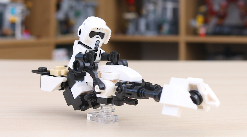 LEGO Star Wars The Mandalorian Speeder Bike Z 74 Custom Build Title 2