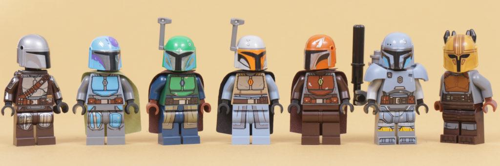 LEGO Star Wars The Mandalorian Tribe minifigures all tan