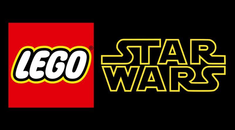 LEGO Star Wars logo in primo piano