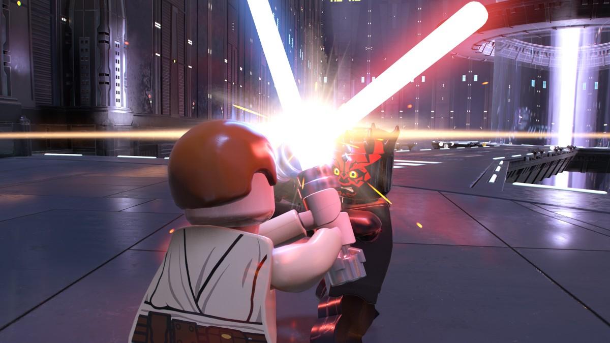 LEGO Star Wars The Skywalker Saga Lightsaber Battle Screenshot Featured