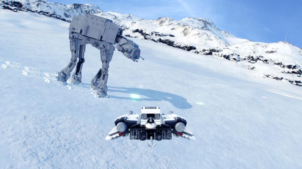 LEGO Star wars The Skywalker Saga Snowspeed AT AT hoth