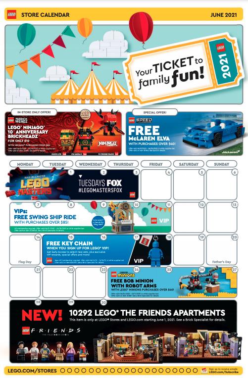 LEGO Store Calendar June 1