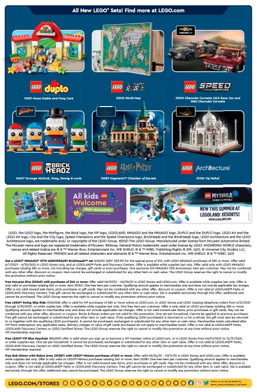 LEGO Store Calendar June 2021 1