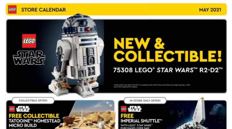 LEGO Store Calendar May 2021 Featured