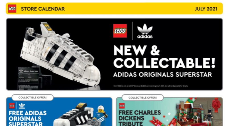 LEGO Store US Calendar July 2021 Featured
