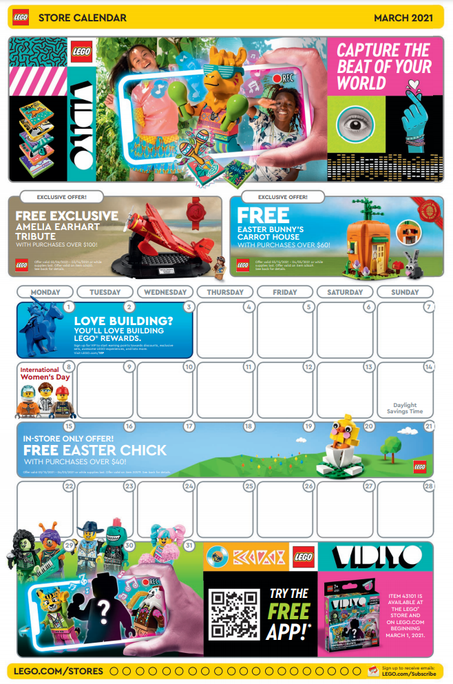 LEGO Store calendar march e1613816493442