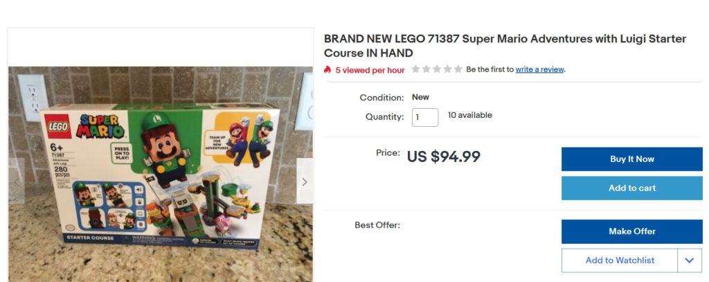 LEGO Super Mario 71387 Adventures with Luigi alternate