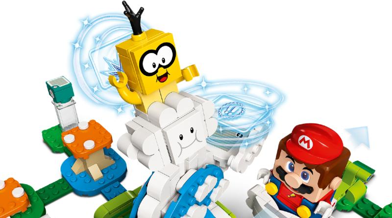 LEGO Super Mario 71389 Lakitu Sky World Expansion Set Action Shot Featured