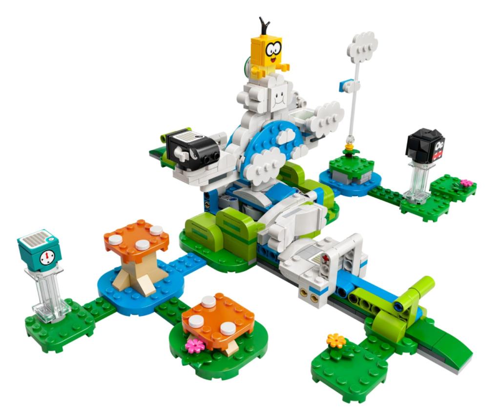 LEGO Super Mario 71389 Lakitu Sky World Expansion Set contents