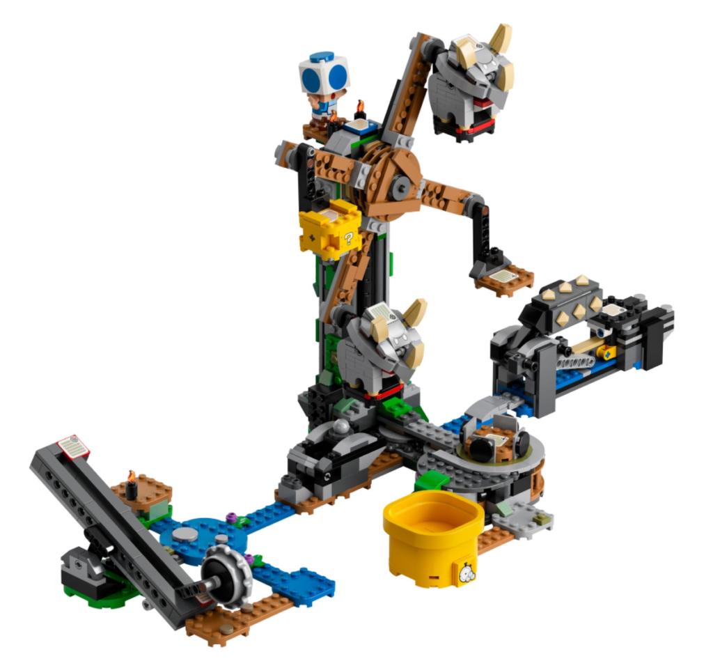 LEGO Super Mario 71390 Reznor Knockdown Expansion Set contents