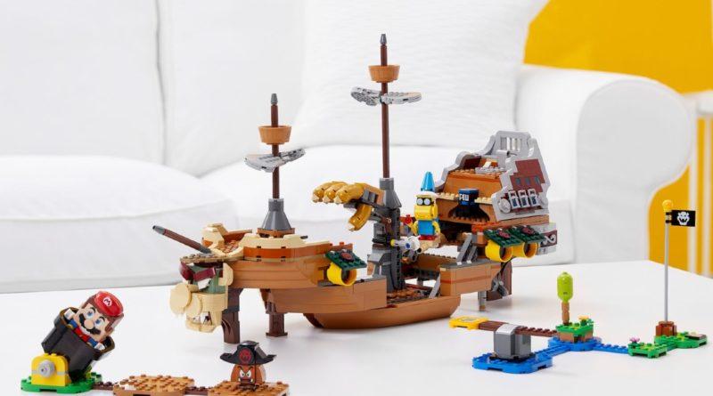LEGO Super Mario 71391 Bowsers Airship Expansion Set lifestyle resized featured