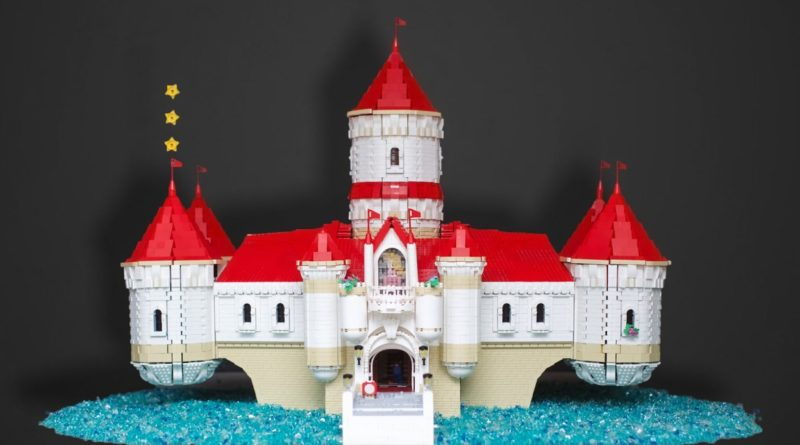 LEGO Super Mario Peachs Castle Eurobricks MOC featured