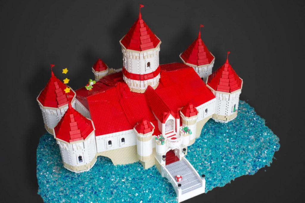 LEGO Super Mario Peachs Castle Eurobricks build 3