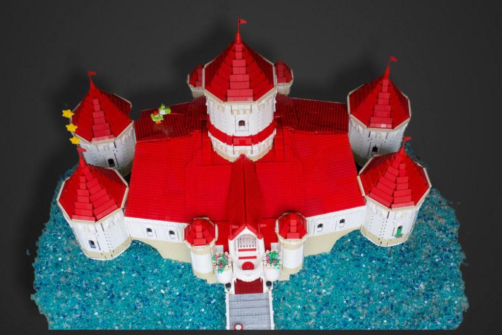LEGO Super Mario Peachs Castle Eurobricks build 5