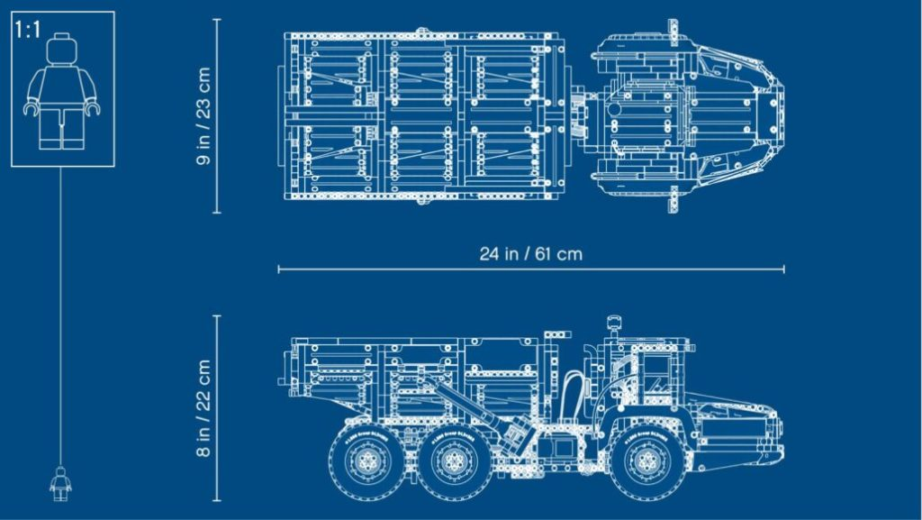 LEGO Technic 42114 6×6 Volvo Articulated Hauler 8