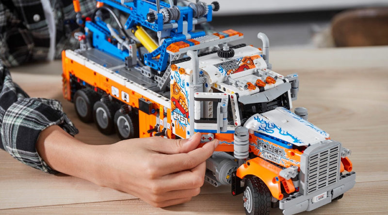 LEGO Technic 42128 Heavy duty Tow Truck lifestyle featured
