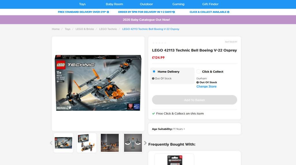 LEGO Technic 42213 Bell Boeing V 22 Osprey Smyths