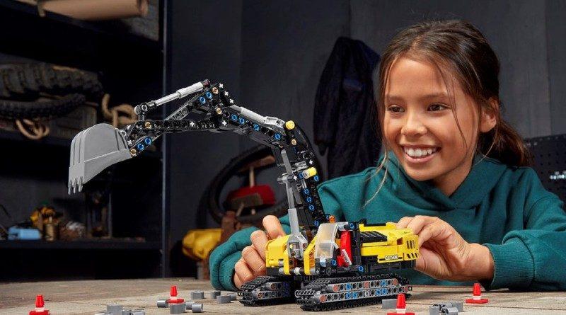LEGO Technic excavator lifestyle featured