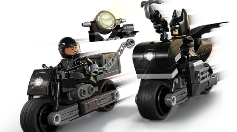 Lego The Batman 76179 Batman Selina Kyle မော်တော်ဆိုင်ကယ်လိုက်ရှာသောအကွက် art နောက်ခံပုံမပါရှိပါ
