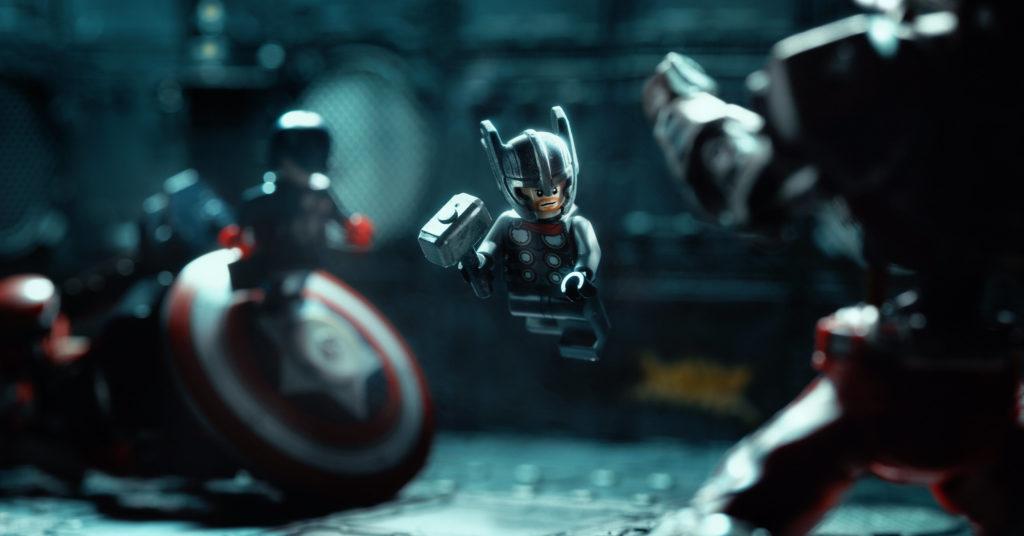 LEGO Thor fight