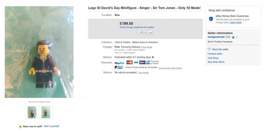 LEGO Tom Jones Ebay