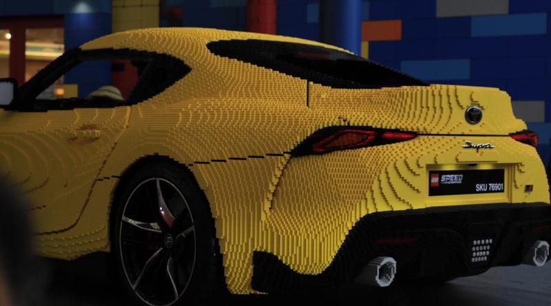 LEGO Toyota Supra brick build featured