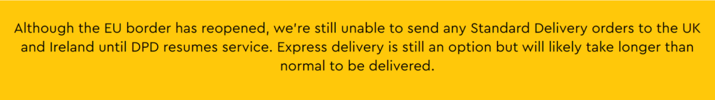 LEGO UK Delivery Affected