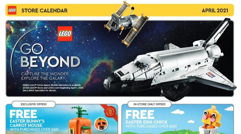 LEGO US Store Calendar April 2021
