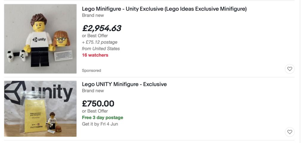LEGO Unity minifigure eBay