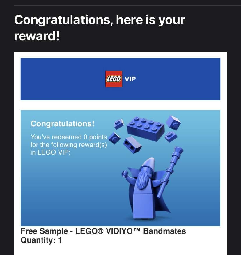 LEGO VIDIYO VIP 43101 Bandmates free sample 2