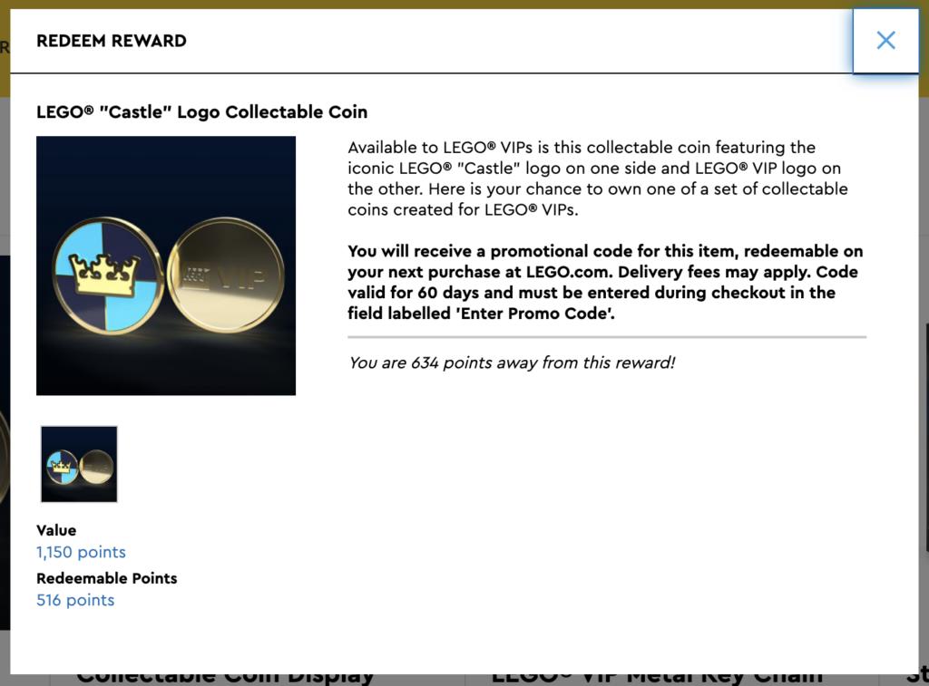 LEGO VIP Castle Coin