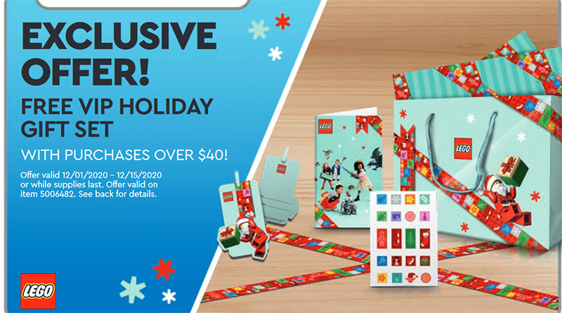 LEGO VIP Christmas Wrapping Set Featured