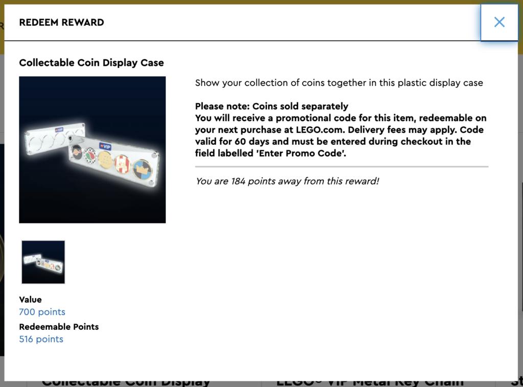 LEGO VIP Coin Case