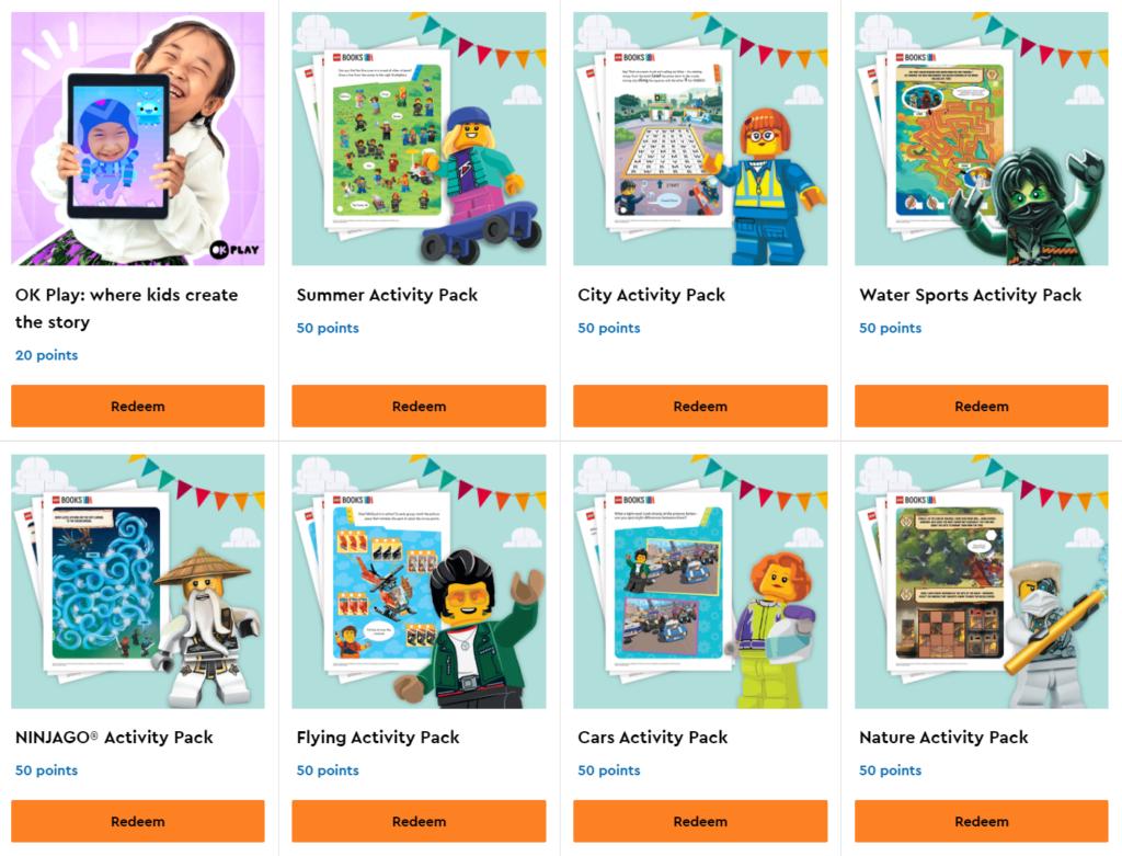 LEGO VIP Rewards activity packs OK Play subscription