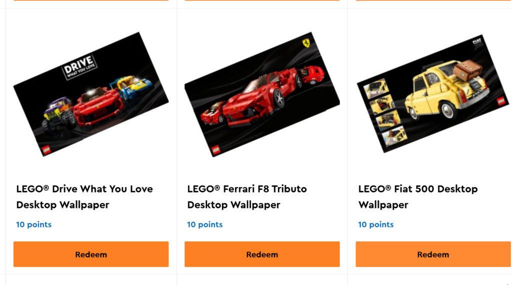 LEGO VIP Digital Drive Rewards
