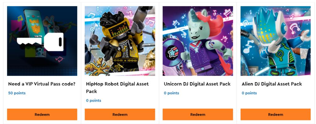 LEGO Vidiyo Vip Rewards 1