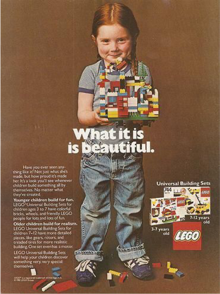 LEGO What It Is Is Beautiful Original Ad