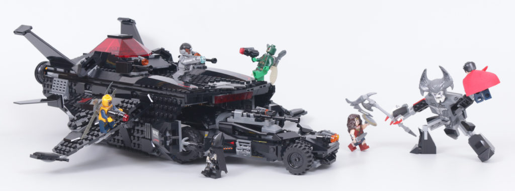 LEGO Zack Snyder Justice League Sets 76086 Knightcrawler Tunnel Attack 76087 Flying Fox Batmobile Airlift Attack 76085 Battle Of Atlantis 2