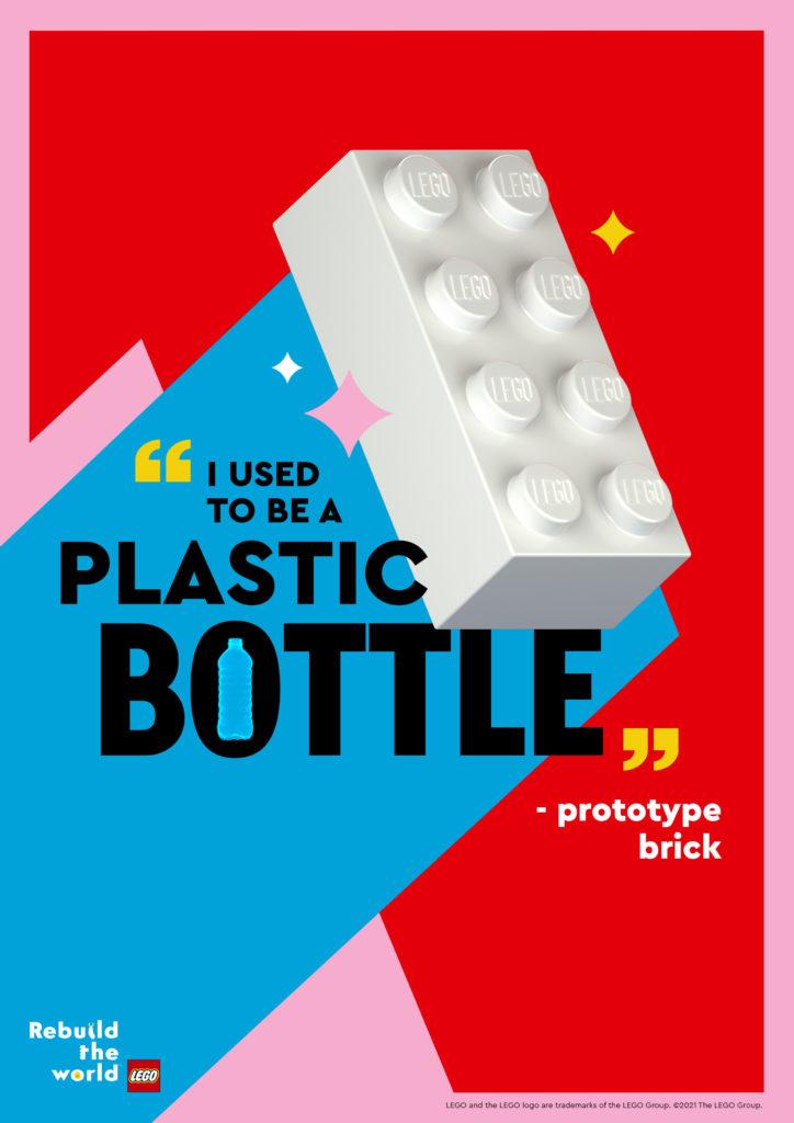 LEGO brick PET recycled plastic