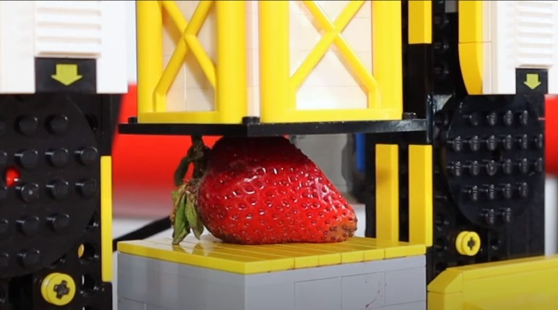 LEGO Brick Built Hydraulic Press YouTube Featured