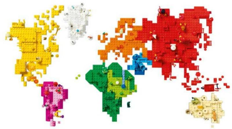 LEGO Brick World Map Featured