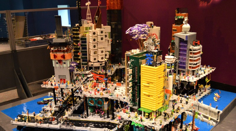 LEGO fans create massive cyberpunk mega-city with skyscrapers and river